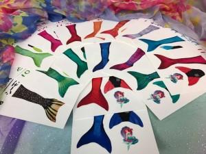 こちらはみなさんにお渡しするテールのお色のカードです。それぞれ違ってみんな素敵!