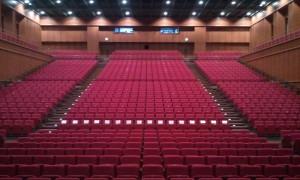 舞台から見た客席です。神聖な場所・・・