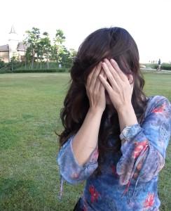 閉じている手の平を開けると・・私はどんな顔をしているでしょうか。